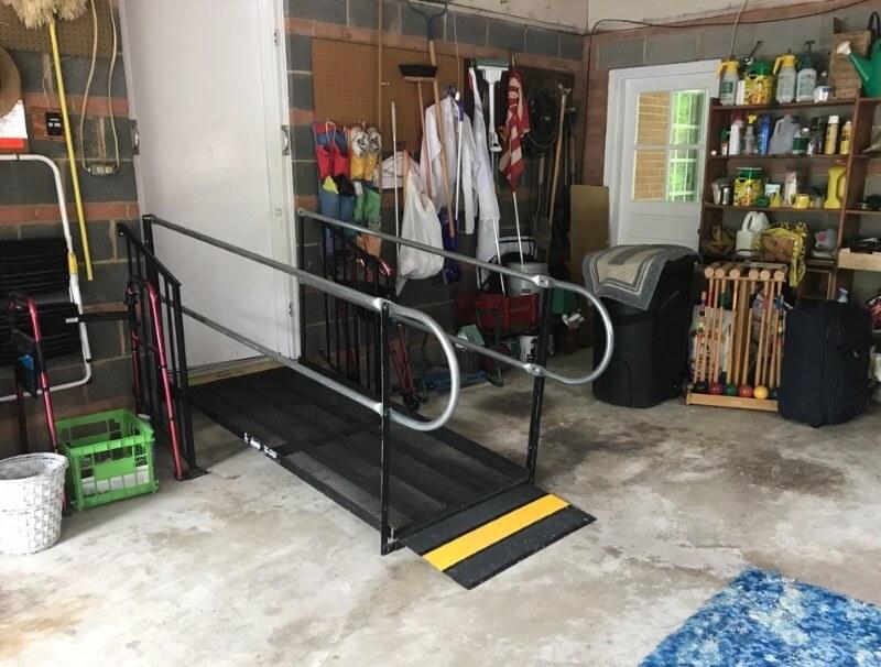 This ramp was installed in a happy client's garage in Vienna, VA.
