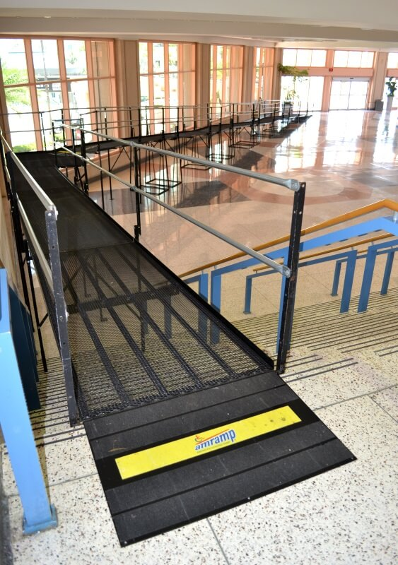 Debbie VanLandingham and the Amramp Tampa team installed this wheelchair ramp for the Warrior Games at the Tampa Convention Center.