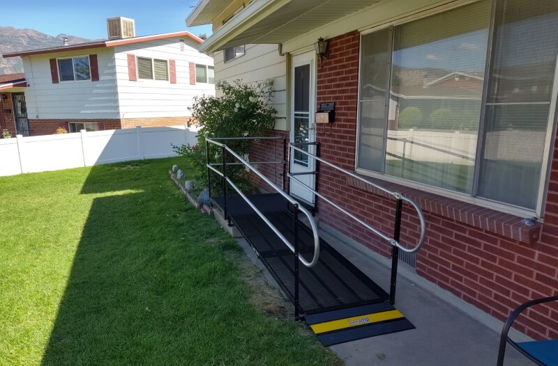 This home in Washington Terrace, UT now has a wheelchair accessible entrance thanks to the Amramp Utah team.