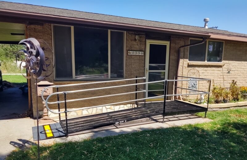 The Amramp Utah team installed this ramp at a home in West Valley City, UT.