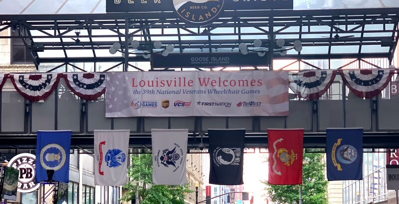 Bob Fowler and the Amramp Louisville team installed multiple wheelchair ramps for the National Veterans Wheelchair Games in Louisville, KY.