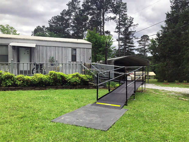 A ramp our Birmingham team installed for a customer located in Gadston, AL