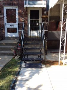Nick Marcellino and the Amramp Philadelphia team installed new metal steps and a vertical platform lift for this Philadelphia, PA home.