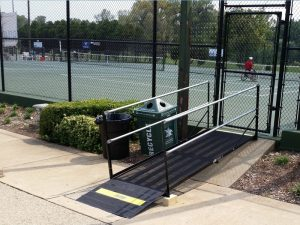 The Amramp St. Louis team installed six wheelchair ramps for the players and fans at the US Open US Tennis Association Wheelchair Championships in St. Louis.