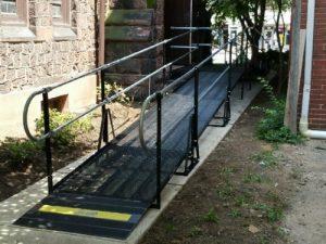 Amramp Philadelphia installed this wheelchair ramp for the Christ Episcopal Church in Pottstown, Pennsylvania