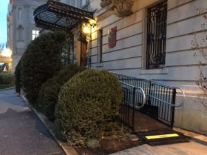 Amramp DC installed this wheelchair ramp for the Polish Embassy in Washington, DC.