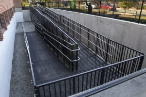 Randolph High School in Randolph, MA needed to provide access to the school and turned to the Amramp Boston team to provide this code compliant commercial wheelchair ramp