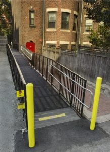 The Amramp Boston team installed this code compliant wheelchair ramp to provide access for Boston University