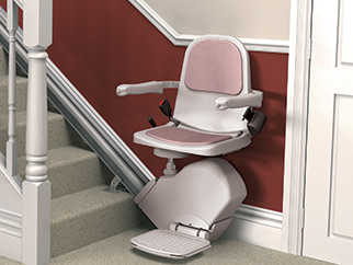 Stairs are no longer a barrier with a stair lift from Amramp. Straight, curved and indoor/outdoor models available.