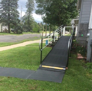 Amramp of Southeast, WI recently traveled to Antigo, WI to install this residential ramp