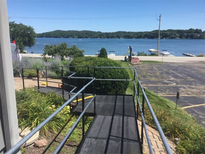 Amramp Southeastern Wisconsin installed this ramp in Hartford, WI today. The clients couldn't be happier. They love the way it looks and that it allows them to easily access their lovely yard. Amramp is making life accessible in Wisconsin.