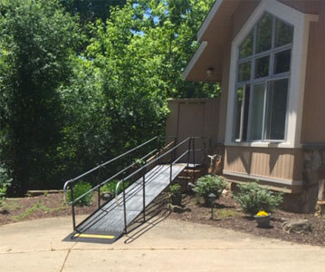 Amramp Southeastern Wisconsin received a call from a couple in Lake Geneva, WI. They needed to get their mother up into their home safely. The Amramp team installed the ramp as soon as the homeowners approved the plan. The clients said that the new ramp looked great and it would make getting their mother in and out of the house much easier.