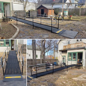 On a Friday, this rental ramp was installed in Milwaukee, Wisconsin. Monday the client is coming home!