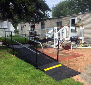 Amramp Southeastern Wisconsin ventured a bit orth this day. Due to hip replacement surgery one client needed a ramp in Necedah while in Mosinee a ramp was needed for an injured brother. In both cases the clients were very happy with how quickly the ramps were installed. Amramp Southeastern Wisconsin is making life accessible.