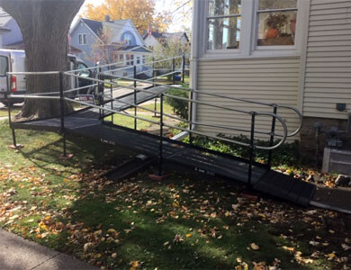 Amramp Southeastern Wisconsin just finished an installation in Oshkosh Wisconsin and the client called the office before the installation team had completed their drive back to the office. They are thrilled with their new ramp. The husband has already been up and down the ramp several times and is thrilled with how easy it is for him to navigate. They are both thrilled with the look of the ramp and how very nice and professional the installation team was.