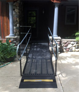 Amramp Southeastern Wisconsin received a call at 3:30 on Wednesday afternoon for a urgent ramp installation. The client couldn't come home from the hospital until the ramp was installed on the front of their home. The evaluation was completed by 5:30 PM and as soon as approval was granted the ramp was installed. The client was able to be home in time for the weekend.