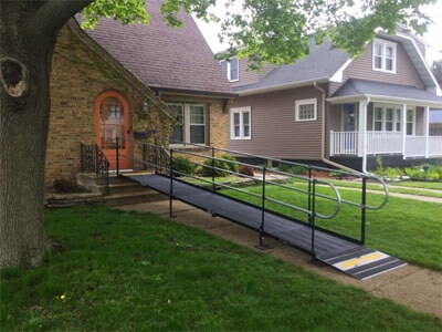 Amramp Southeastern Wisconsin received a call on Wednesday afternoon from a client in Racine, Wisconsin. She needed a wheelchair ramp for her father who had broken his leg. She was thrilled when the ramp was installed Friday morning less than 48 hours later.