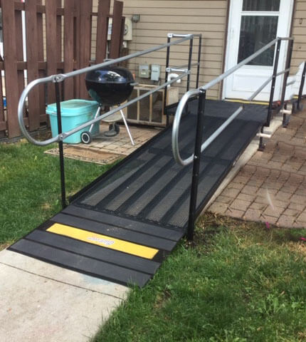 Amramp of Southeastern Wisconsin received a call from father who wanted to place a ramp on his son's house in Germantown, WI. The son had been in a motorcycle accident and was due to be discharged from a rehabilitation facility. The Amramp team completed the evaluation on Monday and installation by noon on Tuesday. The father was very pleased with the fact that the ramp was installed so quickly and exactly as promised. His son will be able to return home Friday and spend his recovery time among family members. Amramp is making life accessible in Southeastern Wisconsin.
