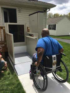 Vertical Platform Lift for Veteran in Kunkletown, PA