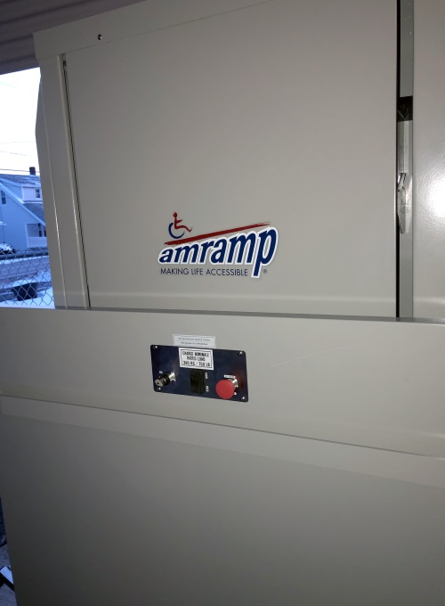 Dave Hoglund and his NJ/Northeast PA team installed this Amramp VPL in Peckville, PA.