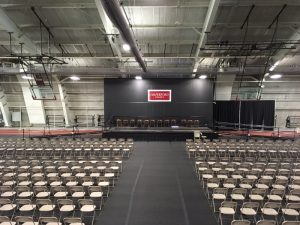 The Amramp Philadelphia team installed these wheelchair ramps to provide access for all students at Haverford College graduation.