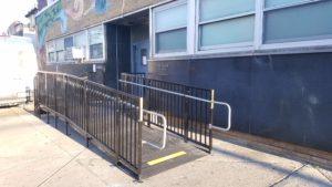 The Amramp Philadelphia team installed this code compliant Amramp PRO ramp for the Philadelphia police department.
