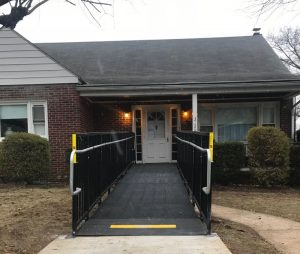 Nick Marcellino and the Amramp Philadelphia team installed this wheelchair ramp for a Group Home in Reading, PA.