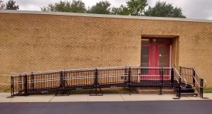 The Amramp Greater PA team installed this commercial wheelchair ramp for the Mantua School District in New Jersey.