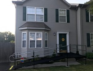 This ramp was installed by the Amramp PA team at a residence in Hanover, PA.