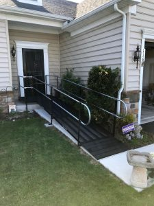 Nick and the Amramp Philadelphia team installed this wheelchair ramp for a patient coming home from rehab in Bryn Mawr, PA.