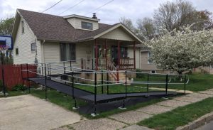 This ALS patient's Mt. Ephraim, NJ home is now wheelchair accessible thanks to this ramp Nick and the Amramp Greater PA team installed.