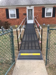 This wheelchair ramp was installed at a New Castle, DE home.