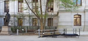 The Amramp Philadelphia team installed this wheelchair ramp at Philadelphia City Hall.