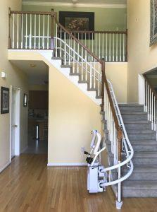 This stairlift was installed at a beautiful North Wales, PA home by Nick and the Amramp Philadelphia team.