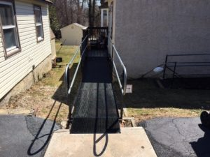 The Amramp Philadelphia team worked with the Delaware County Department of Aging to provide wheelchair access with this wheelchair ramp for a resident in Media, PA.