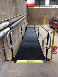 The American Red Cross needed to provide access to the rear of their building in Philadelphia, Pennsylvania. They contacted Nick Marcellino and the Amramp Philadelphia team to install this wheelchair ramp.