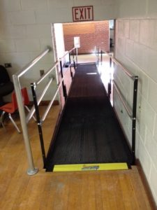 The Royer Greaves School needed access to school facilities. The Amramp Philadelphia team installed this wheelchair ramp at their school in Paoli, PA.
