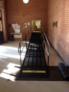 The Amramp Philadelphia team installed this wheelchair ramp to provide access for The Royer Greaves School in Paoli, PA.