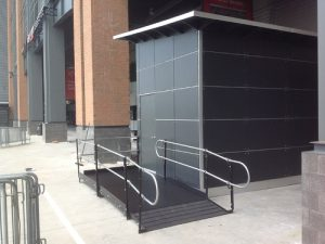 Amramp Philadelphia provided wheelchair access for the new Philadelphia Eagles' Pro Shop at Lincoln Financial Field.