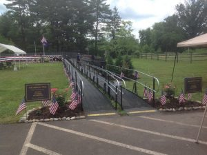 Amramp provides wheelchair access for Vietnam Moving Wall in Hatfield, PA.