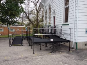 The Palmyra Moravian Church in Palmyra, New Jersey contacted Nick Marcellino and the Amramp Philadelphia team to install a wheelchair ramp to allow access for all parishioners.