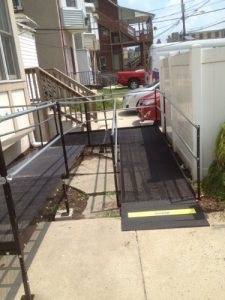 Nick Marcellino and the Amramp Philadelphia team provided wheelchair access with this wheelchair ramp that wraps around the Center for Family Services offices in Camden, NJ.