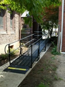 Parishioners now have access to the Christ Episcopal Church in Pottstown, PA with this wheelchair ramp installed by Nick Marcellino and the Amramp Philadelphia team.