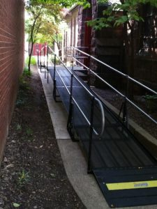 All attendees now have access to the Christ Episcopal Church in Pottstown, PA after Nick Marcellino and the Amramp Philadelphia team installed this wheelchair ramp.