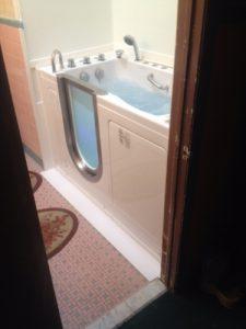 The Amramp Philadelphia team renovated a bathroom in Philadelphia, PA and add this walk-in bathtub.