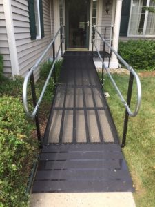 Nick Marcellino and the Amramp Philadelphia team installed this wheelchair ramp to provide access for a veteran in Downingtown, Pennsylvania.