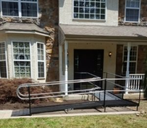 Amramp Philadelphia worked with the ALS Association Greater Philadelphia Chapter to install this wheelchair ramp for an ALS patient in Gilbertsville, PA.