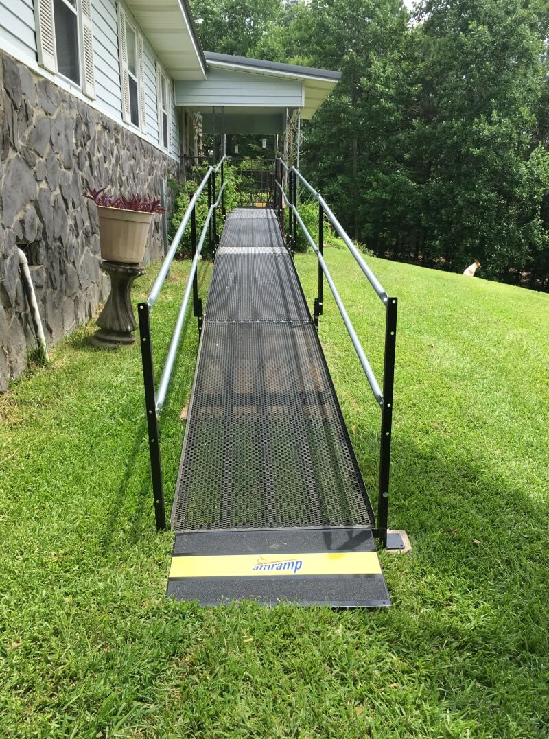 John and the Amramp AL team installed this wheelchair ramp in Birmingham, AL.