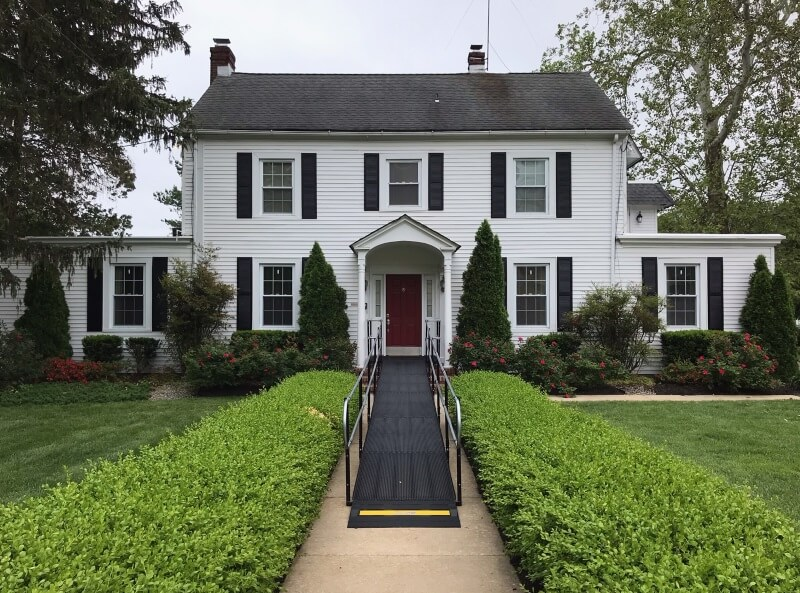 The Amramp Greater PA team installed this wheelchair ramp at the Delaware State University's President's house in Dover, DE.
