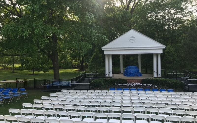 Nick Marcellino and the Amramp Philadelphia team installed this graduation ramp for Elizabethtown College's graduation in Elizabethtown, PA.